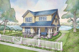 Cottage Exterior - Front Elevation Plan #928-314