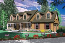 Dream House Plan - Colonial Exterior - Front Elevation Plan #48-161