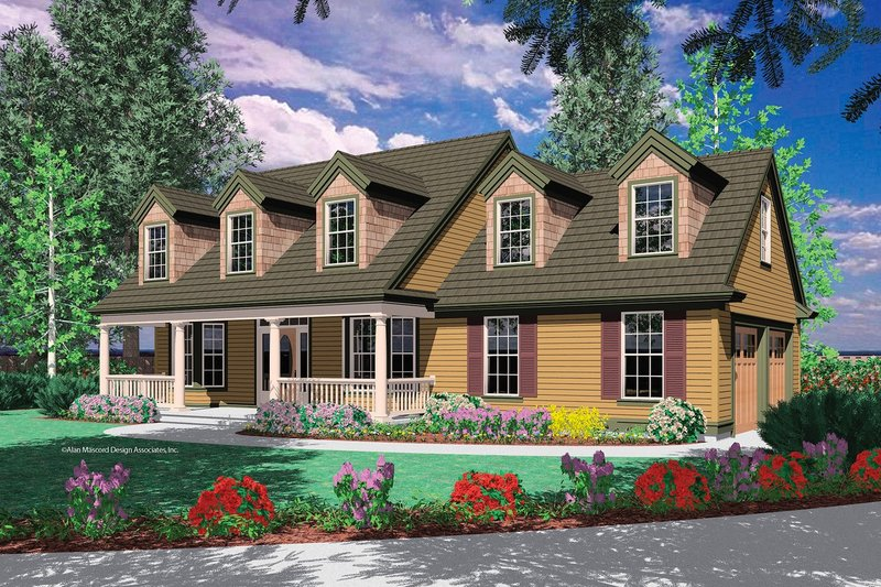 Colonial Exterior - Front Elevation Plan #48-161 - Houseplans.com