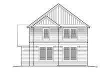 Dream House Plan - Craftsman Exterior - Rear Elevation Plan #48-499