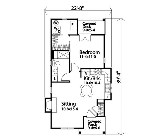 Dream House Plan - Cottage Floor Plan - Main Floor Plan #22-597