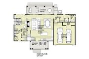 Craftsman Style House Plan - 4 Beds 2.5 Baths 2360 Sq/Ft Plan #901-138 Floor Plan - Main Floor