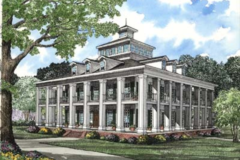 Home Plan - Southern Exterior - Front Elevation Plan #17-417