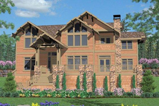 Craftsman Exterior - Front Elevation Plan #509-24