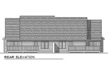 Dream House Plan - Traditional Exterior - Rear Elevation Plan #70-1152