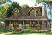 Country Style House Plan - 3 Beds 2 Baths 1790 Sq/Ft Plan #140-108 Exterior - Front Elevation