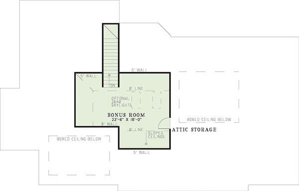 European Floor Plan - Upper Floor Plan Plan #17-111