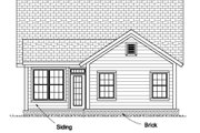 Cottage Style House Plan - 3 Beds 2 Baths 1433 Sq/Ft Plan #513-2078 Exterior - Rear Elevation