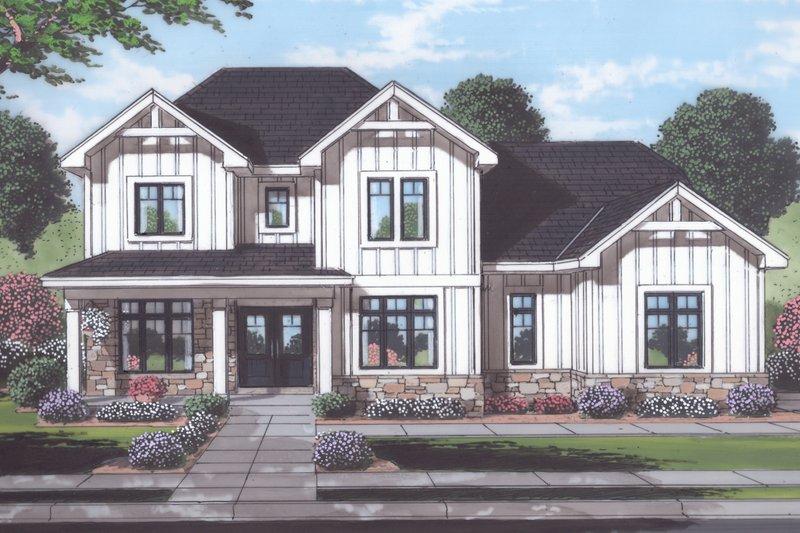 House Plan Design - Farmhouse Exterior - Front Elevation Plan #46-907