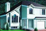 European Style House Plan - 3 Beds 2 Baths 1937 Sq/Ft Plan #25-398 Exterior - Front Elevation