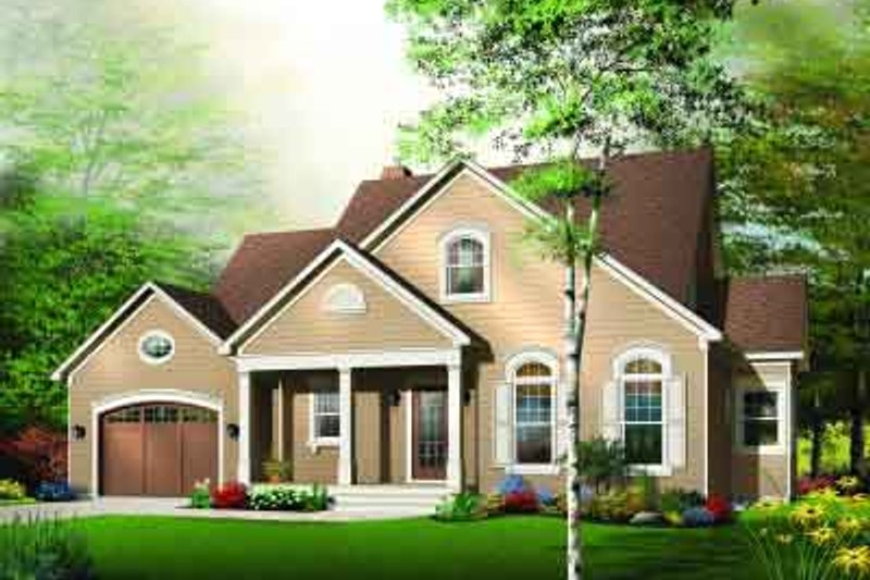 Traditional Exterior - Front Elevation Plan #23-540 - Houseplans.com
