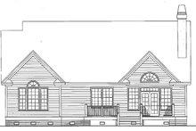 House Plan Design - Traditional Exterior - Rear Elevation Plan #929-42