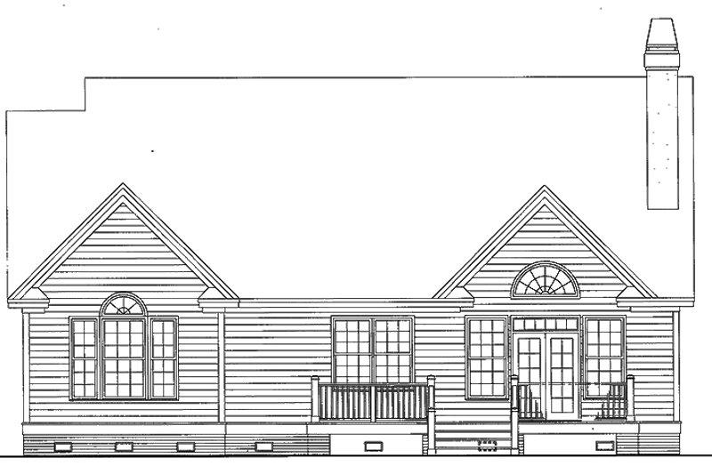 Traditional Exterior - Rear Elevation Plan #929-42 - Houseplans.com
