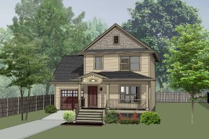 Country Exterior - Front Elevation Plan #79-271
