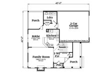 Traditional Floor Plan - Main Floor Plan Plan #419-312