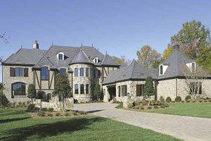 Dream House Plan - European Exterior - Front Elevation Plan #453-596