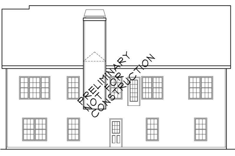 Colonial Exterior - Rear Elevation Plan #927-460 - Houseplans.com