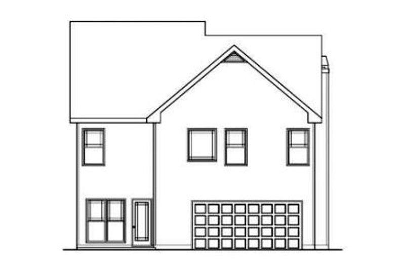 Craftsman Exterior - Rear Elevation Plan #419-205 - Houseplans.com