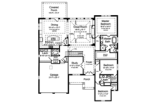 European Floor Plan - Main Floor Plan Plan #46-855