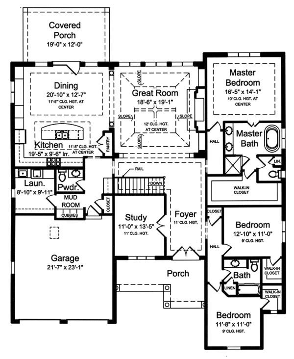 House Plan Design - European Floor Plan - Main Floor Plan #46-855