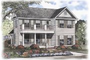 Colonial Style House Plan - 3 Beds 2.5 Baths 1870 Sq/Ft Plan #17-406 Exterior - Front Elevation