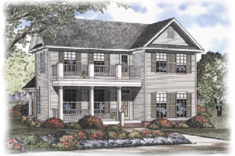 Dream House Plan - Colonial Exterior - Front Elevation Plan #17-406