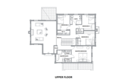 European Style House Plan - 4 Beds 4 Baths 3737 Sq/Ft Plan #542-15 Floor Plan - Upper Floor Plan