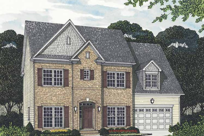Dream House Plan - Traditional Exterior - Front Elevation Plan #453-552