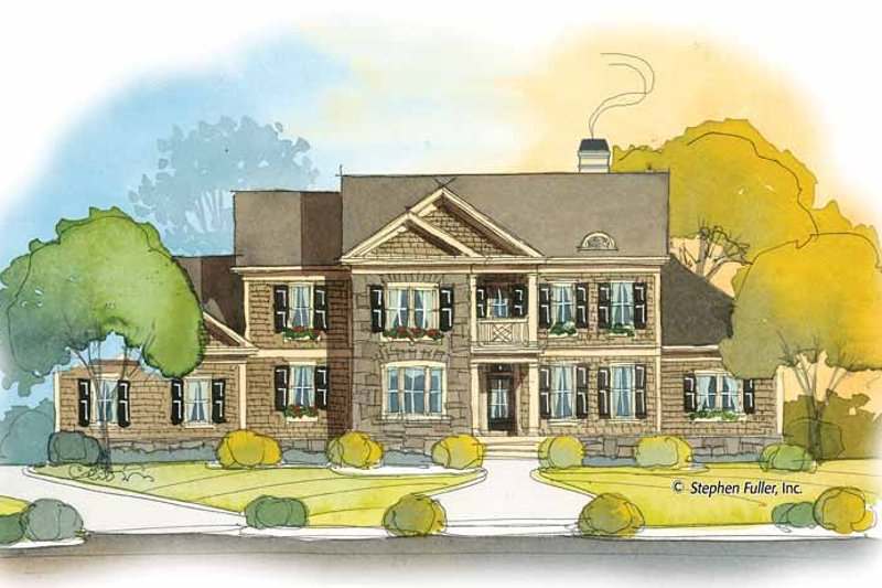 Colonial Exterior - Front Elevation Plan #429-391