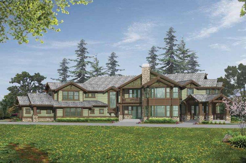Dream House Plan - Craftsman Exterior - Front Elevation Plan #132-520