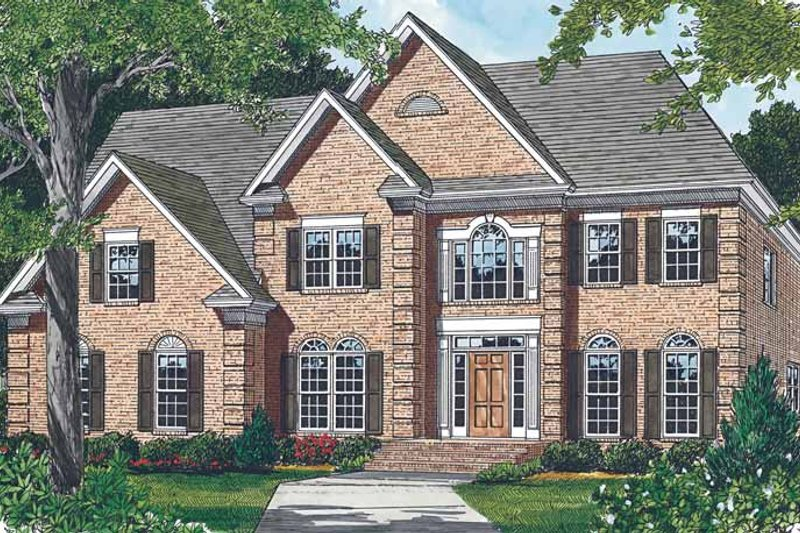 Colonial Exterior - Front Elevation Plan #453-175