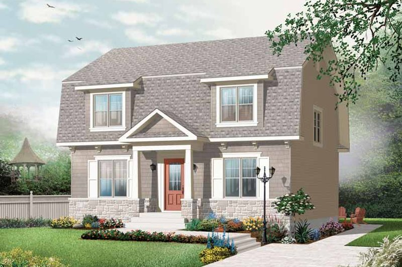 Dream House Plan - Colonial Exterior - Front Elevation Plan #23-2415