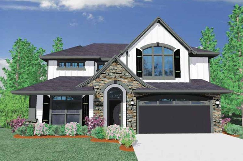 Traditional Exterior - Front Elevation Plan #509-352