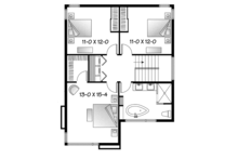 Contemporary Floor Plan - Upper Floor Plan Plan #23-2585