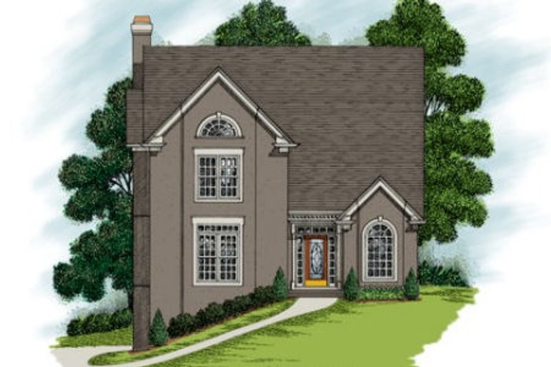 Home Plan Design - European Exterior - Front Elevation Plan #56-223