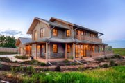 Prairie Style House Plan - 3 Beds 3 Baths 3219 Sq/Ft Plan #1042-18 Exterior - Other Elevation