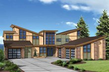 Contemporary Exterior - Front Elevation Plan #569-31