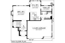 European Floor Plan - Main Floor Plan Plan #70-1171