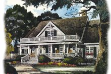 Country Exterior - Front Elevation Plan #429-436