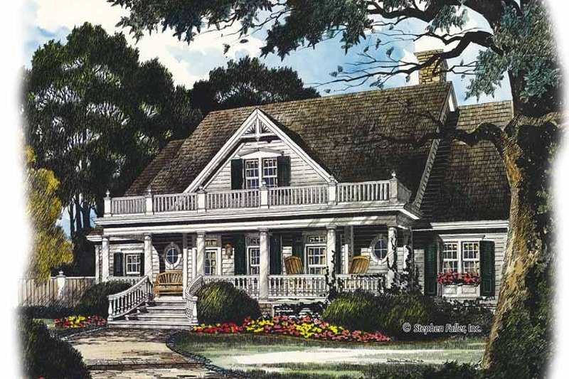 Country Exterior - Front Elevation Plan #429-436 - Houseplans.com