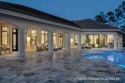 Mediterranean Style House Plan - 4 Beds 4.5 Baths 4030 Sq/Ft Plan #930-473 Exterior - Rear Elevation