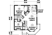 Victorian Style House Plan - 2 Beds 1 Baths 974 Sq/Ft Plan #25-4304 Floor Plan - Main Floor Plan