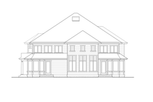 Craftsman Exterior - Rear Elevation Plan #132-490