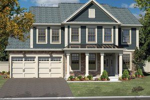 Dream House Plan - Colonial Exterior - Front Elevation Plan #316-279