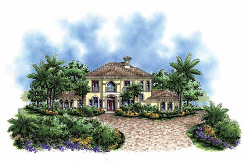 Dream House Plan - Mediterranean Exterior - Front Elevation Plan #1017-93