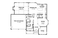 Traditional Floor Plan - Main Floor Plan Plan #316-277