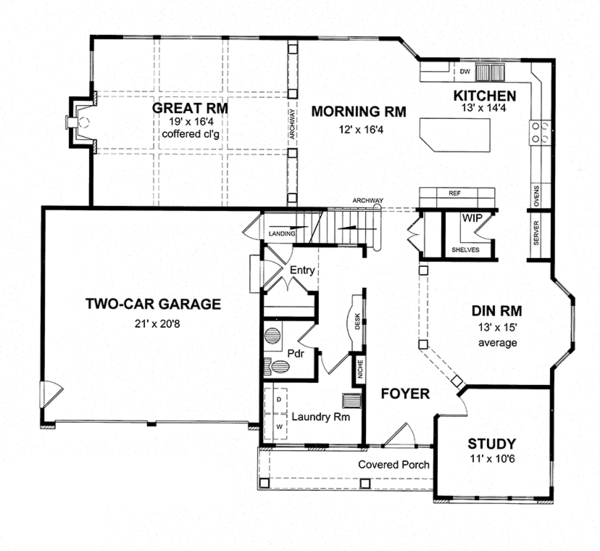 Architectural House Design - Traditional Floor Plan - Main Floor Plan #316-277
