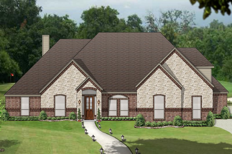 Traditional Exterior - Front Elevation Plan #84-611 - Houseplans.com