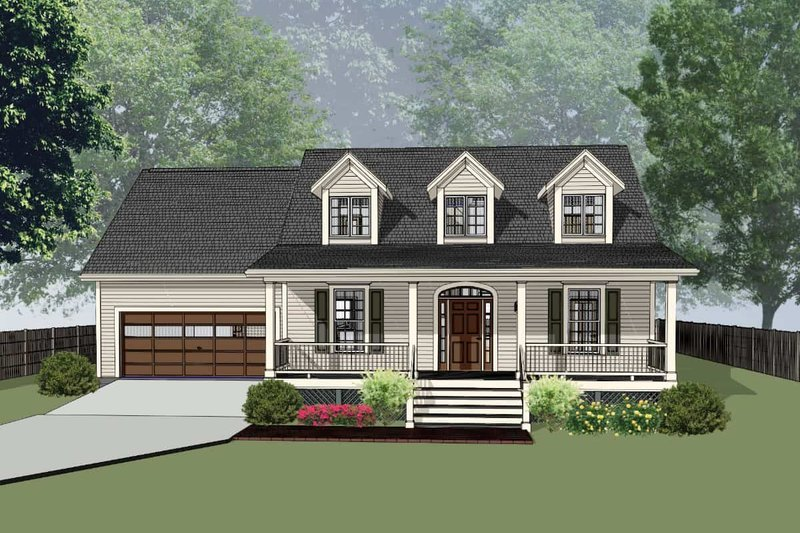 Country Style House Plan - 3 Beds 2.5 Baths 1718 Sq/Ft Plan #79-221 Exterior - Front Elevation