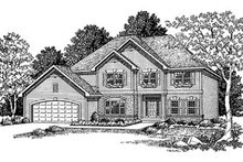 European Exterior - Front Elevation Plan #70-444